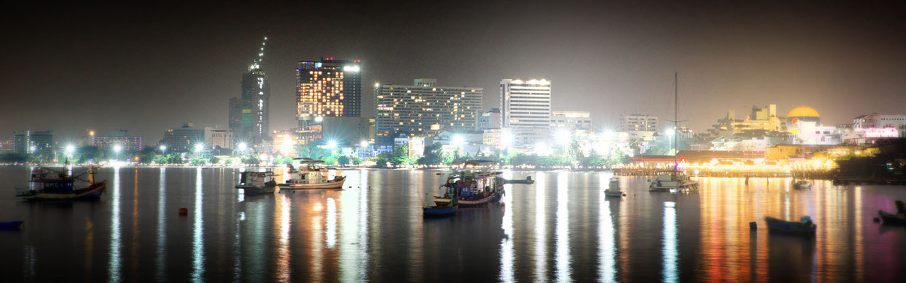 The Pattaya skyline at night, photo by Russ Thorne