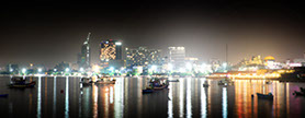 Pattaya Beach skyline at night